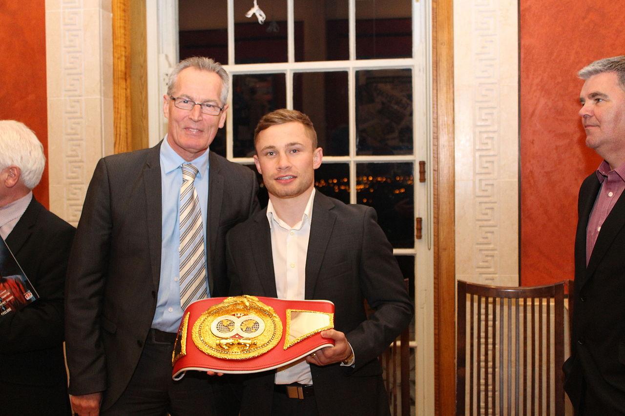 55463e70da0 File Gerry Kelly with boxing champion Carl Frampton.jpg - Wikimedia ...
