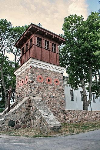 Giedraičiai - Bell tower of Church of St. Bartholomew