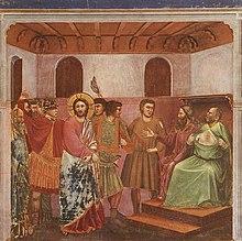 Presentación de Jesús ante Caifás. Giotto di Bondone
