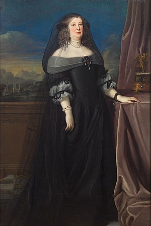 Anna de' Medici, Archduchess of Austria - Anna de' Medici in widow garb, c. 1666. Painted by Giovanni Maria Morandi.