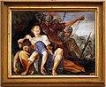 Giovanni da san giovanni, Storie mitologiche e veterotestamentarie, 1634-1635 circa, affresco su terracotta, sansone e dalila.jpg
