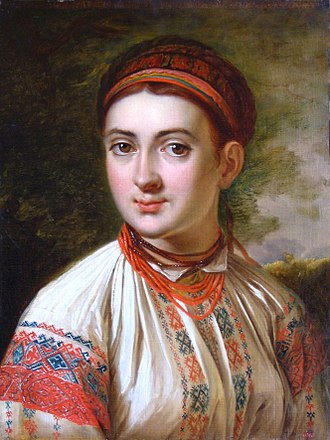 Vyshyvanka - Portrait of a woman in vyshyvanka