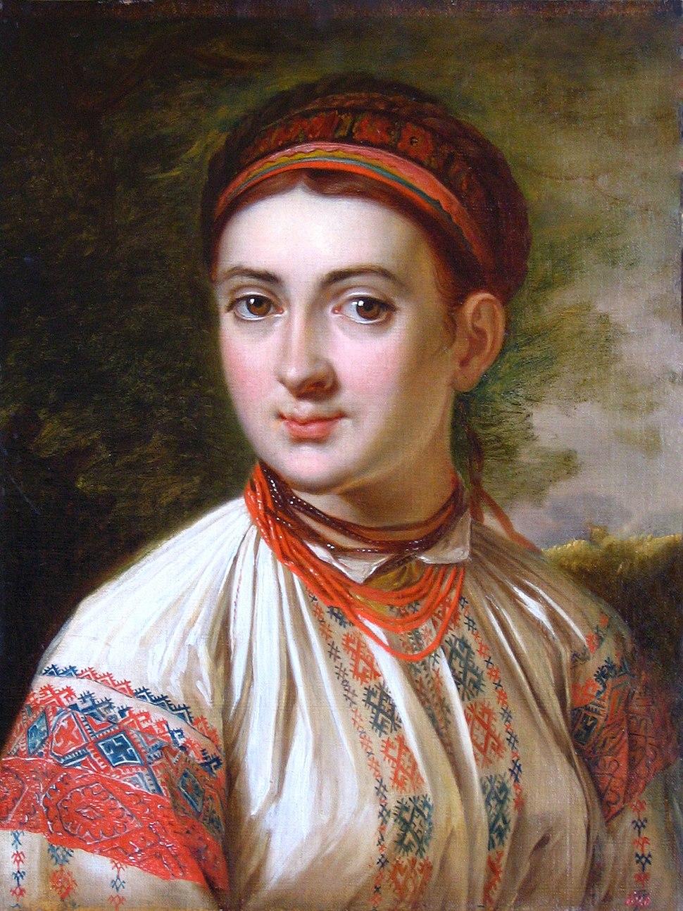 Girl from Podolye by V.Tropinin (b. 1821, Kursk)