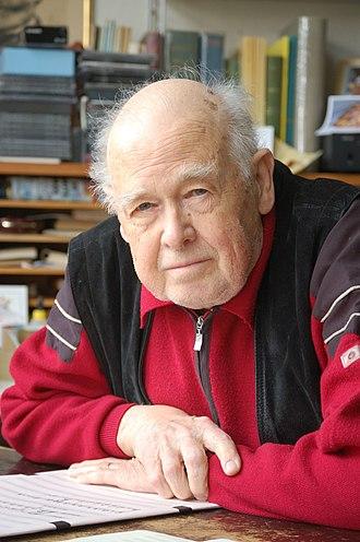 Giselher Klebe - The composer at his desk in April 2008
