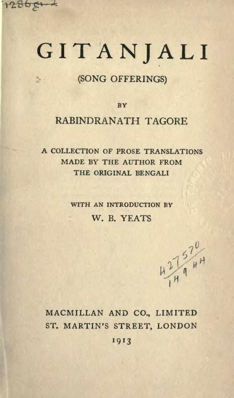 Gitanjali 11 title page