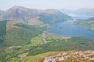 Glencoe, Highland - Glencoe village from the summit of the Pap of Glencoe