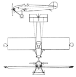 Glenny & Henderson Gadfly 3-view Aero Digest January,1930.png