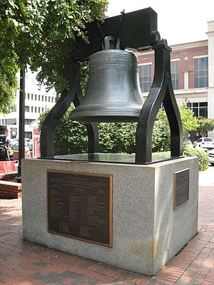 Cobb County, Georgia - Glover Park Bell, on the square in Marietta