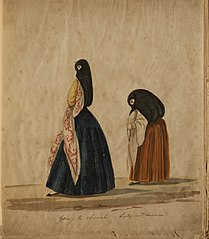 Going to church - Lady and duenna