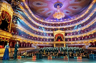 Bolshoi Theatre - Auditorium of the Bolshoi Theatre in 2014