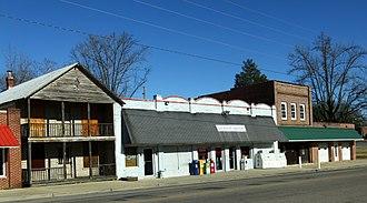 Goldston, North Carolina - Commercial buildings along North Main Street