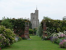 View Of Goodnestone Church From The Rose Garden Park