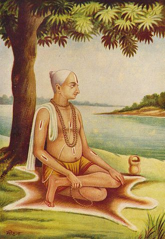 Tulsidas - Picture of Tulsidas published in the Ramcharitmanas, by Sri Ganga Publishers, Gai Ghat, Benaras, 1949.
