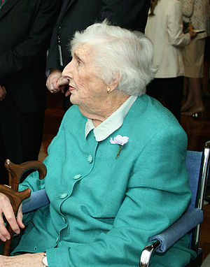 Margaret Whitlam - Margaret Whitlam at Parliament House, Canberra, for the national apology to the Stolen Generations in 2008