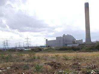 Isle of Grain - The oil-fired Power Station from the village.