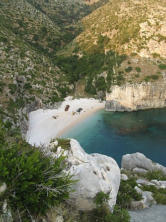 Albanian Ionian Sea Coast - The bays along the coastline provide habitats for many important species, among them three types of endangered sea turtles.