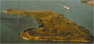 Grassy Island - Aerial view of Grassy Island looking north