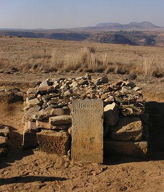 Moshoeshoe I - Grave of Moshoeshoe I atop Thaba Bosiu.