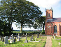 Graveyard at Christ Church, Ash - geograph.org.uk - 219631.jpg