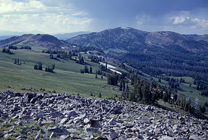 Gray Peak (Wyoming) - Gray Peak from the west, 1965