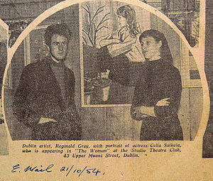 Reginald Gray (artist) - Gray featured with actress Celia Salkeld in Dublin, Evening Mail (1954)