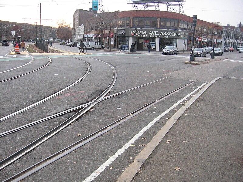 A line track