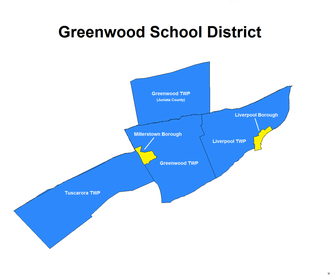 Greenwood Township, Perry County, Pennsylvania - Image: Greenwood School District Map