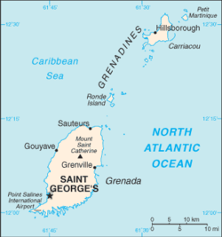 List Of Cities In Grenada Wikipedia - Grenada map download
