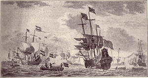 Battle in the Bay of Matanzas - Piet Hein capturing the Spanish silver fleet