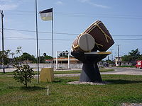 """Drums of our Fathers Monument"" in Dangriga, Belize"