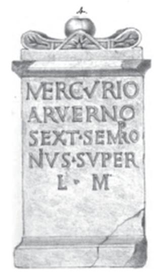 Arvernus - Image: Gripswalder Matronenstein Mercurius Arvernus 01