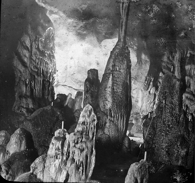Fonds Trutat - Photographie ancienne  Cote: TRU C 207 Localisation: Fonds ancien Original non communicable  Titre: Grotte de Gargas, Luchon [environs] / [cliché Félix Régnault]  Auteur: Regnault Rôle de l'auteur: Photographe  Lieu de création: Aventignan (Hautes-Pyrénées) Date de création:: 1859-1908 [entre]  Mesures: 9 x 10 cm   Mot(s)-clé(s):  -- Grotte -- Roche -- Calcaire -- Stalactite -- Stalagmite -- Voûte  -- Aventignan (Hautes-Pyrénées) -- Gargas, Grotte de (France) -- Baronnies, Les (Hautes-Pyrénées)  -- 19e siècle, 2e moitié -- 20e siècle, 1e quart  Médium: Photographies -- Négatifs sur plaque de verre -- Noir et blanc -- Détails   Bibliothèque de Toulouse. Domaine public