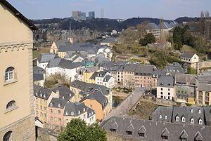 Grund, Luxembourg - Image: Grund, Luxembourg (by Pudelek)