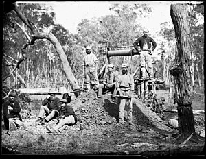 New South Wales gold rush - A mine at Gulgong, NSW 1871-1875