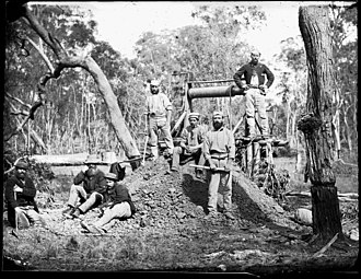 New South Wales gold rush - Minehead, goldfields Gulgong, New South Wales, 1872–1873, attributed to Henry Beaufoy Merlin