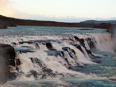 Gullfoss upper waterfall, Iceland 2013.JPG
