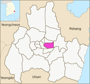 Dongcheon-dong, Gyeongju - Image: Gyeongju map Dongcheon dong 01