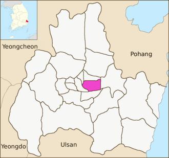 Dongcheon-dong, Gyeongju - Image: Gyeongju map Dongcheon dong 01
