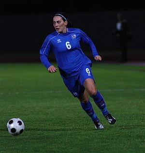Hólmfríður Magnúsdóttir - Hólmfríður playing against Estonia in September 2009
