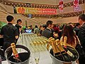 HK TST 香港文化中心 Hong Kong Cultural Centre night Moët & Chandon n glass drinking cups n cocktail party n banner HK Arts Festival Feb-2013.JPG