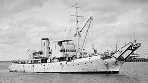 Bar-class boom defence vessel
