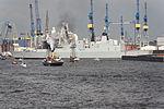 HMS Defender (D36) hamburg in front blohm+voss wharf.jpg