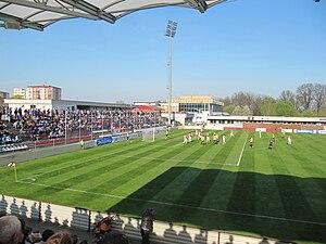 SK Hanácká Slavia Kroměříž - Czech Cup quarterfinal match against FC Zbrojovka Brno on 20 April 2011