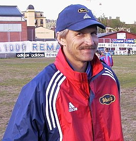 Thoresen in 2001 als trainer van Skeid Fotball