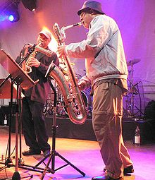 Oliver Lake (left) and Hamiet Bluiett