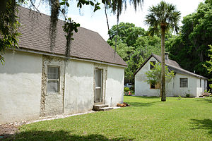 Gascoigne Bluff - Hamilton Plantation slave houses (river view side)