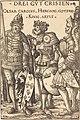 Hans Burgkmair I, Charlemagne, Arthur and Godfrey, 1516, NGA 30646.jpg