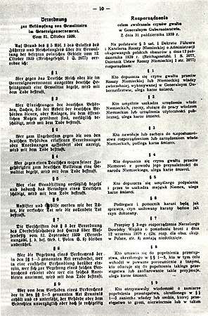 Hans Frank's ordinance on counteracting the acts of violence in Generalgouvernement 01.jpg