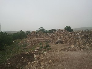 Khan al-Tujjar (Mount Tabor) - Remains of the Khan, in 2014