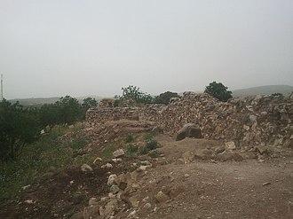 Khan al-Tujjar (Mount Tabor) - Remains of the Khan, in 2014